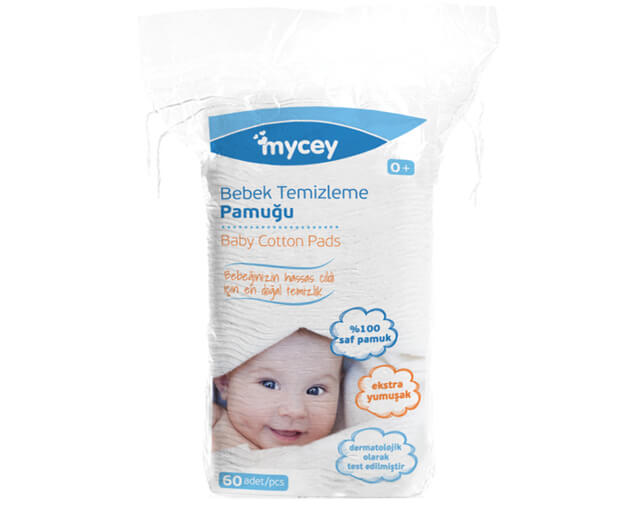 Bebek Temizleme Pamuğu - 60 adet